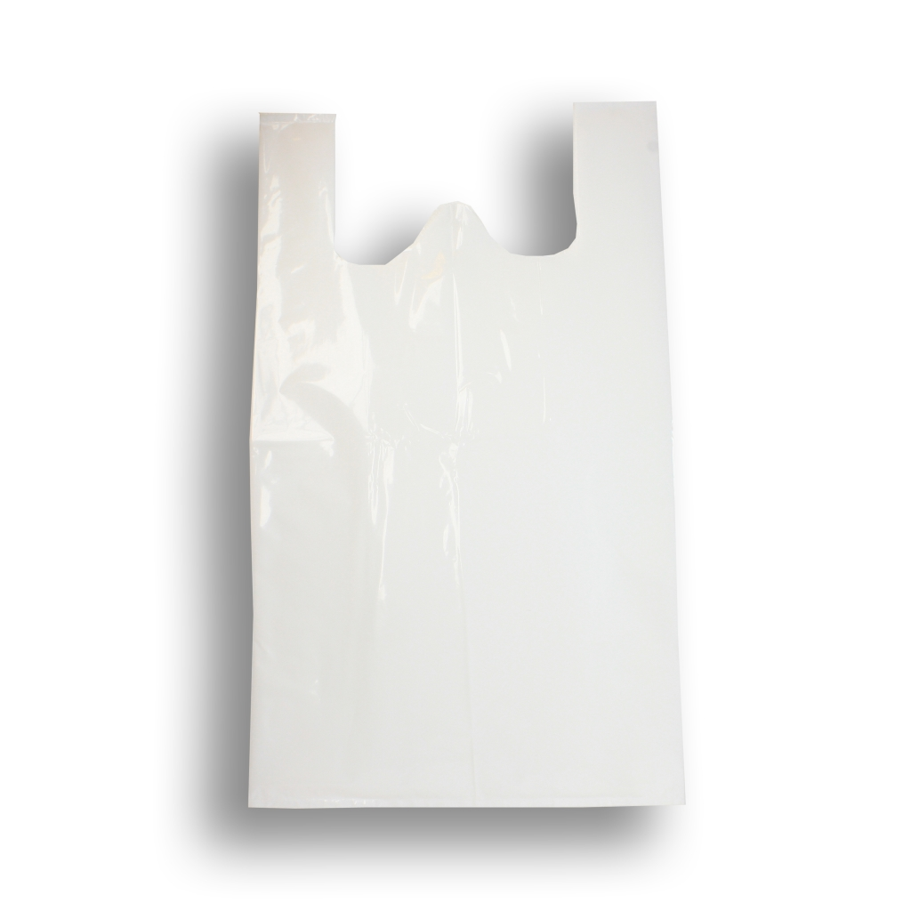 White Upol & Laundry Carrier Bags