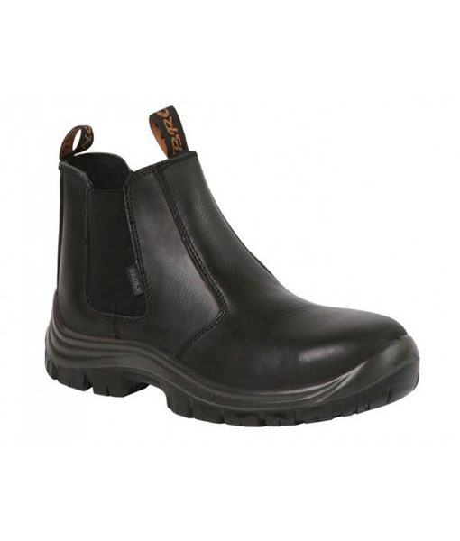 Black Chelsea Boot (Steel Toe Cap) 1