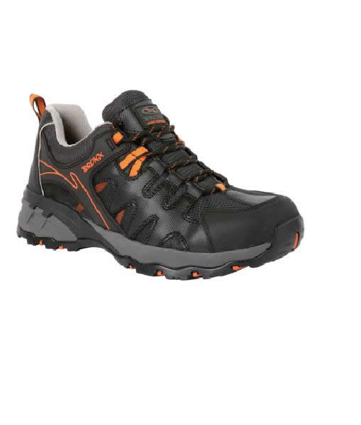 Black/Orange Sprinter Shoe (Steel Toe Cap)