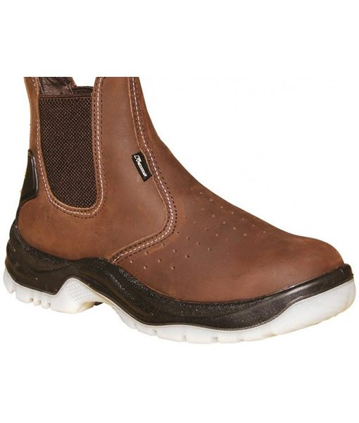 #6914 Chelsea Boot Brown(Steel Toe Cap) 1