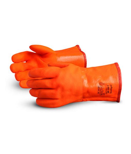 Orange Freezer Gloves