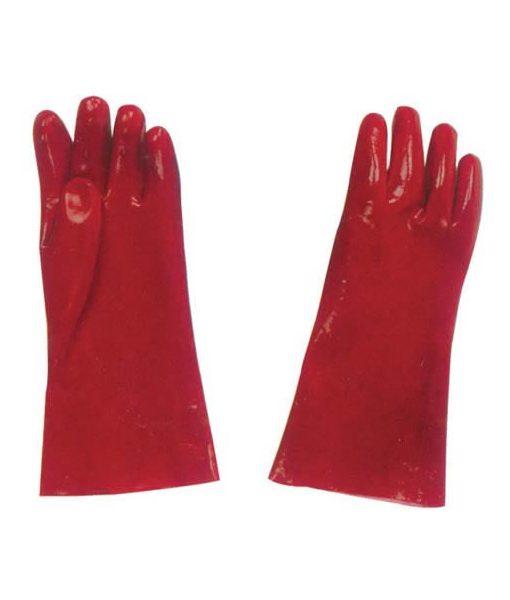 Red PVC Gloves 1