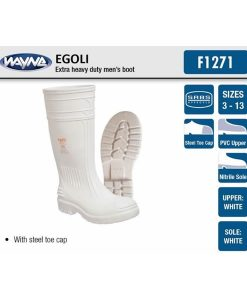 #1271 Mens White Egoli (Steel Toe Cap)
