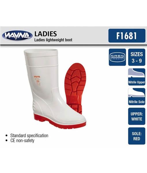 #1681 Ladies Calf Red/White or Blue/White
