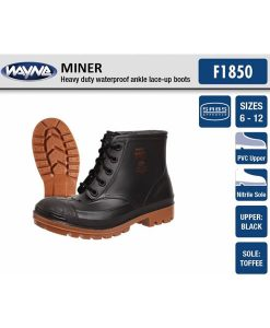 #1860 Mens Miner Black Ankle (Steel Toe Cap)