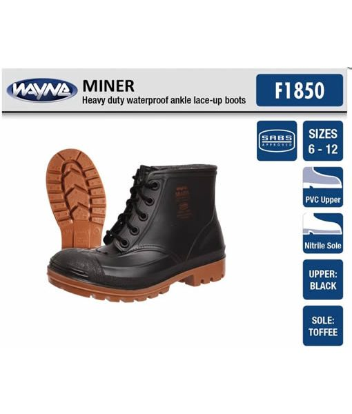 #1860 Mens Miner Black Ankle (Steel Toe Cap) 1