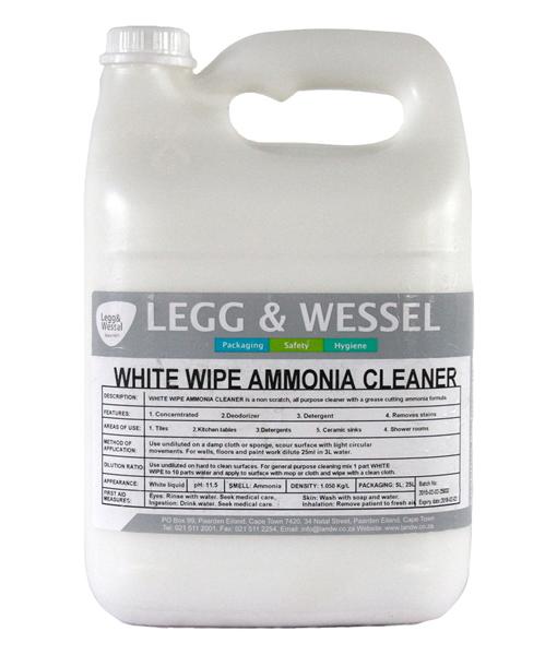 White Wipe Ammonia Cleaner